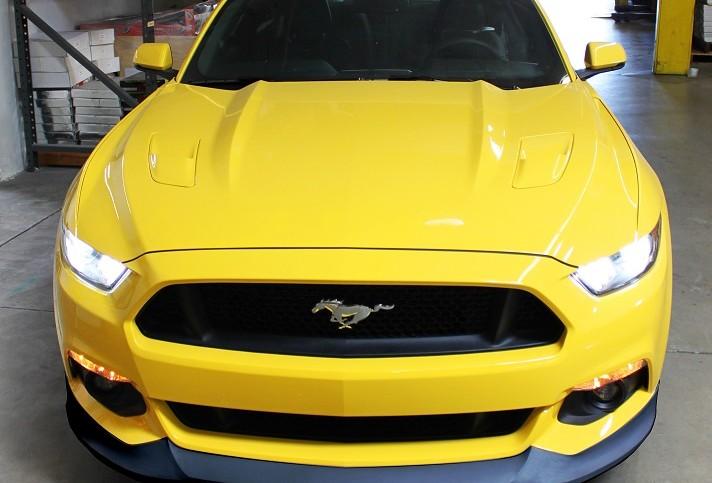 Street Scene 2015 Ford Mustang Lip Spoiler