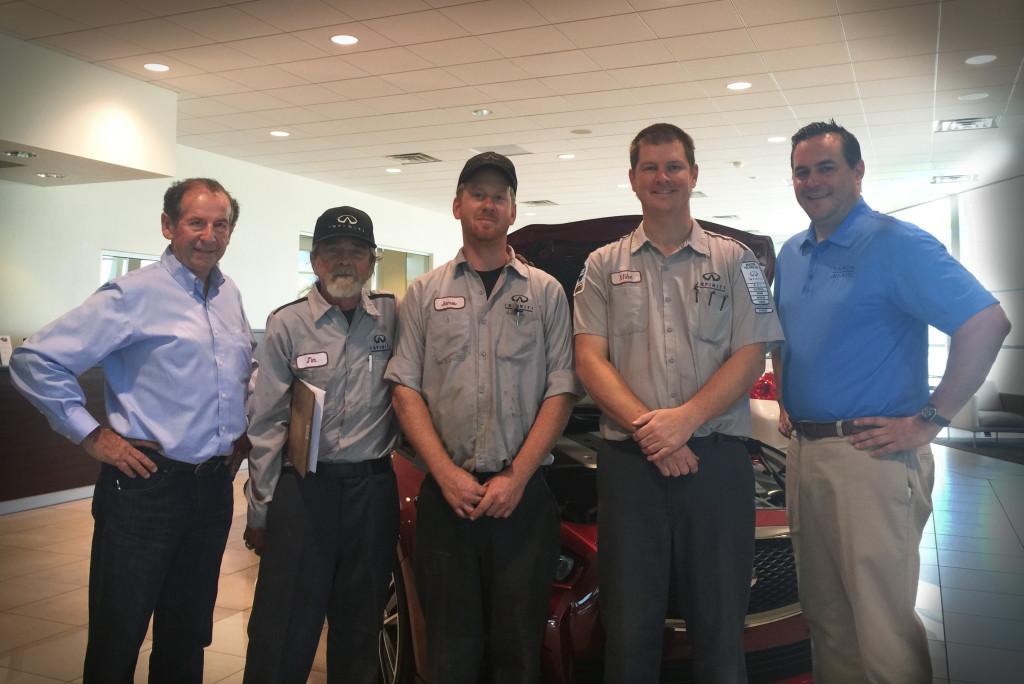 Steve Millen and the Garcia Infiniti Team