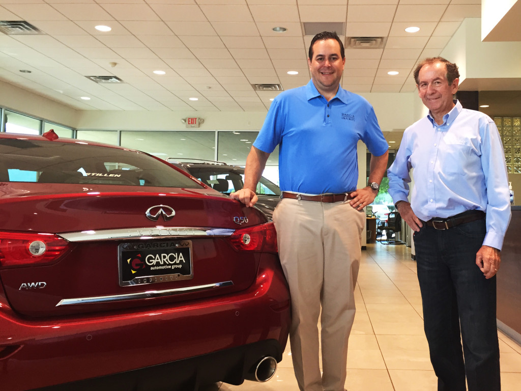 Steve Millen and the Owner of Garica Infiniti