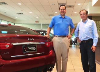 Steve Millen and the Owner of Garica Infiniti