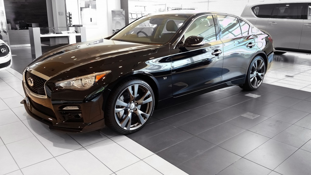 2015 Q50S with STILLEN Splitter Available at Lia Infiniti