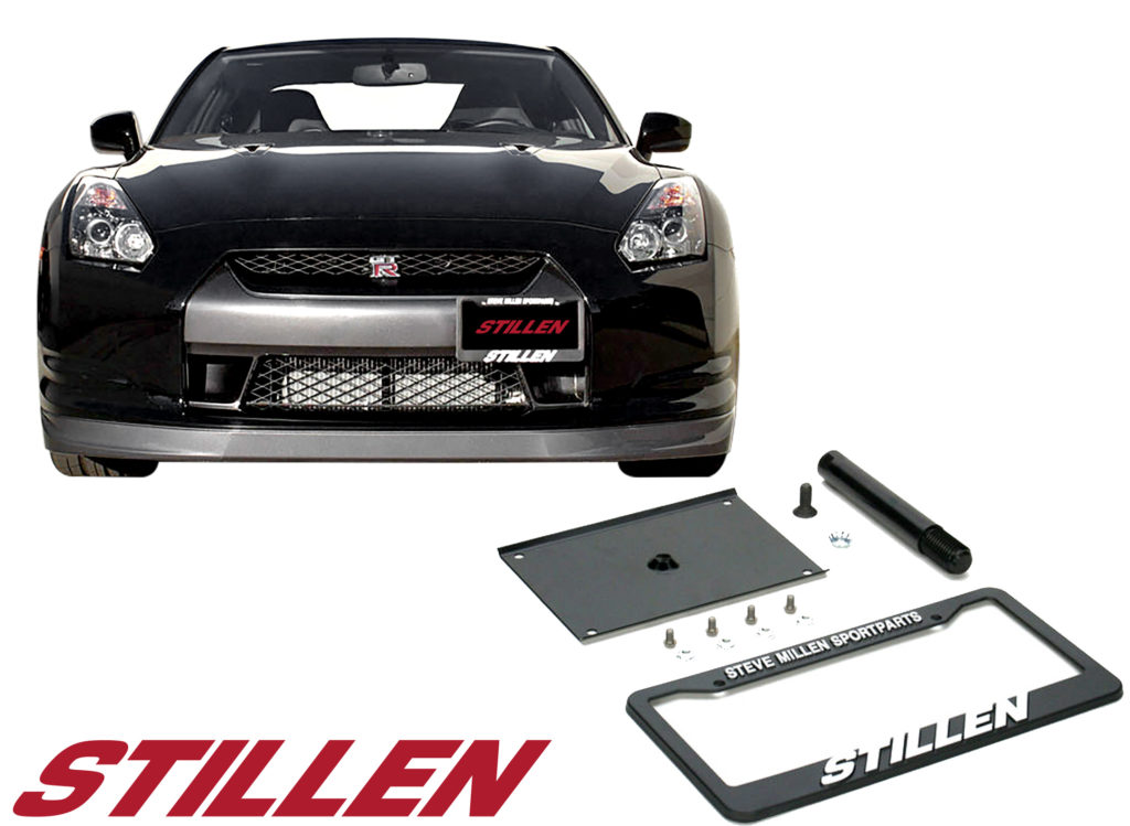 105480 STILLEN Nissan GT-R Tow Hook License Plate Relocator Bracket thumb