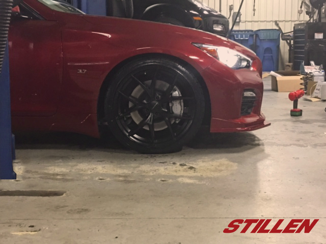 "Nalley Infiniti Decatur Q50 with STILLEN Splitter, RS-R Springs and KMC 20"" Wheels"
