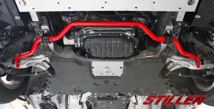 Stillen sway bars shown on Infiniti Q50