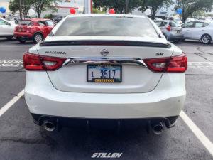 Modified 2016 Nissan Maxima STILLEN rear diffuser