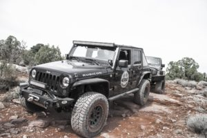 Jeep in Moab with Eibach PRO-TRUCK shocks