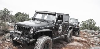 Eibach PRO-TRUCK shocks on Jeep in Moab Desert