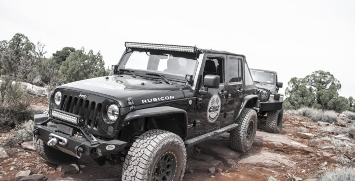 Eibach PRO-TRUCK shocks on Jeep in Moab Desert