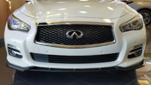 Modified 2016 Infiniti Q50 with STLLEN front splitter