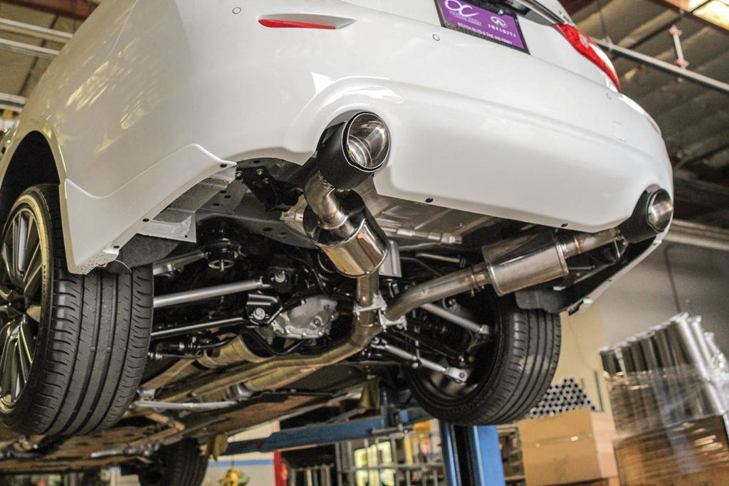Best Exhaust: STILLEN 2016 Infiniti Q50 Cat Back Exhaust IMG_0123