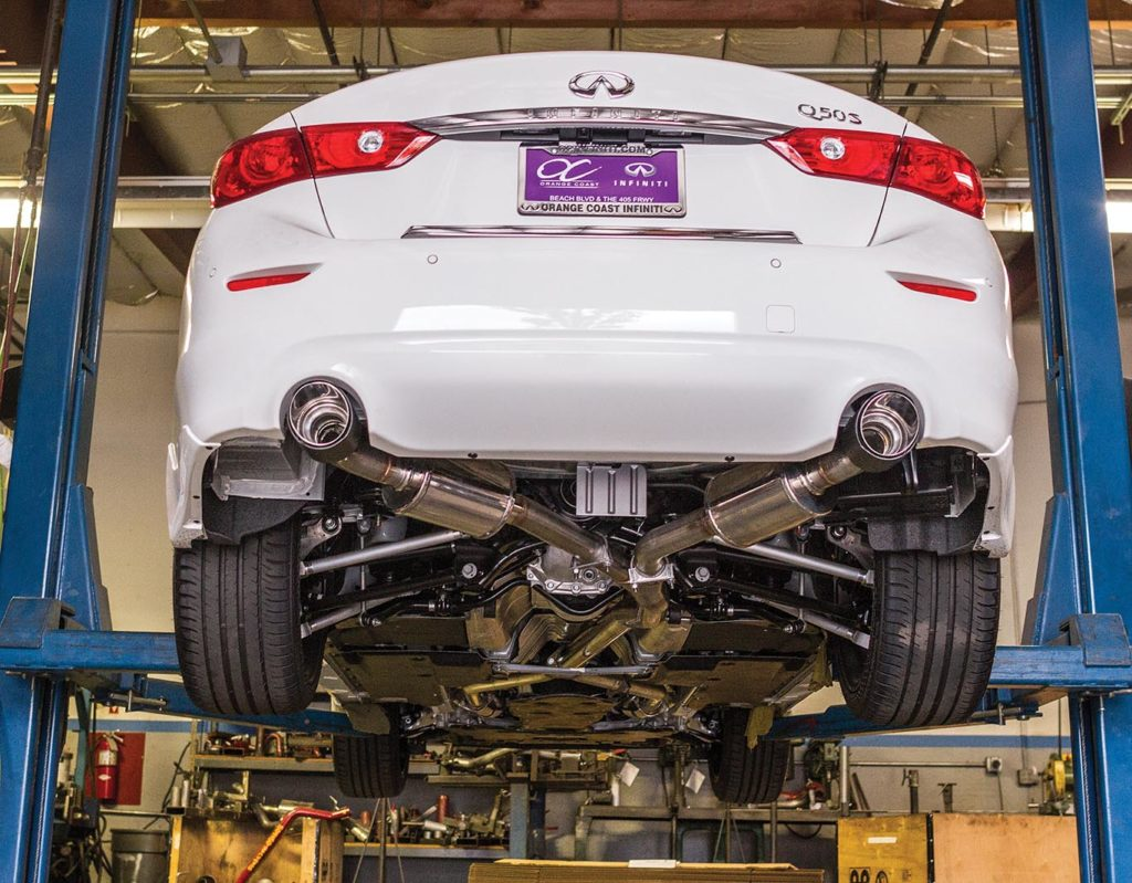 Best Exhaust: STILLEN 2016 Infiniti Q50 Cat Back Exhaust IMG_0128