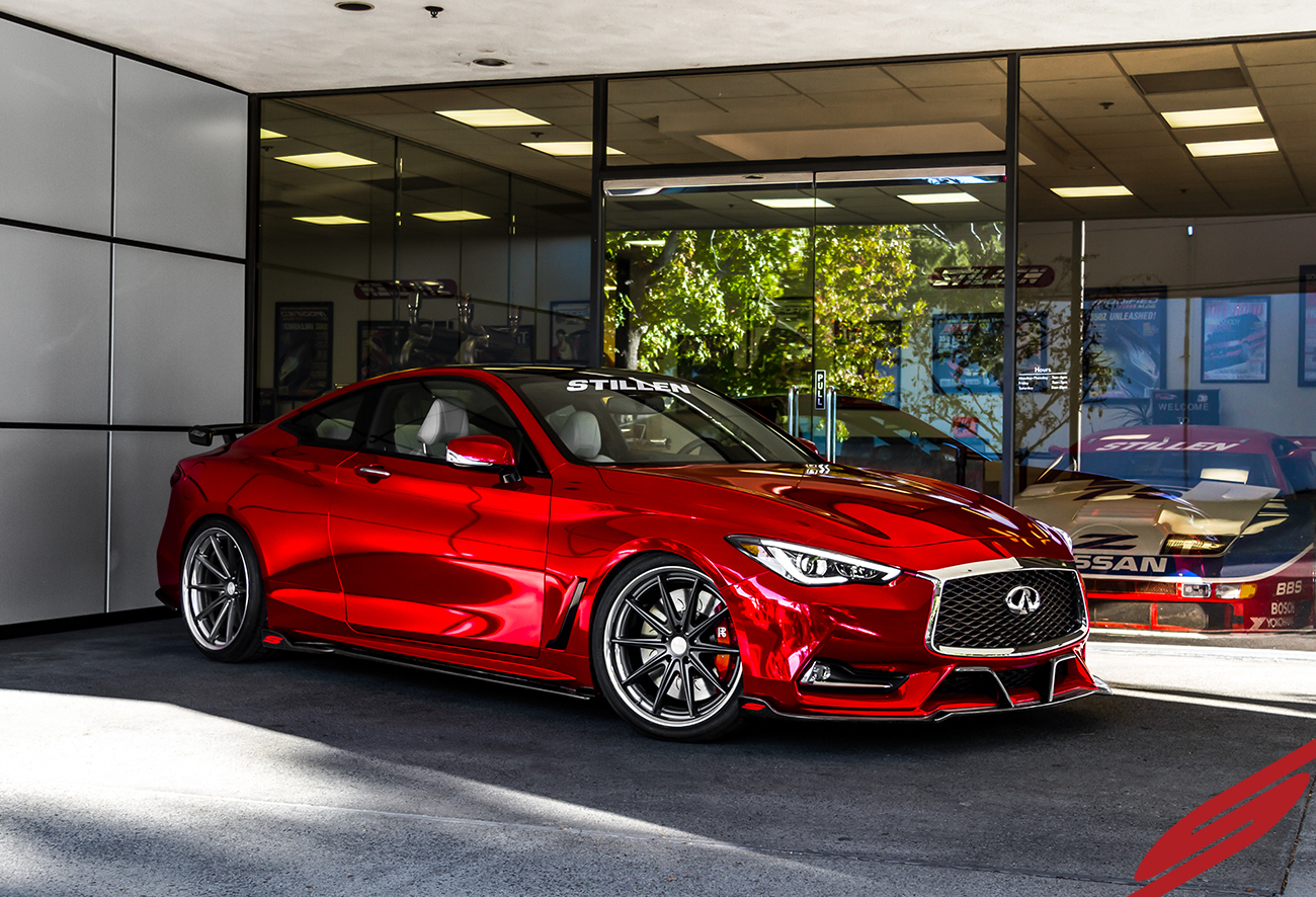 Stillen Debuts New Infiniti Q60 Parts With Q60 Redsport 400 At Sema