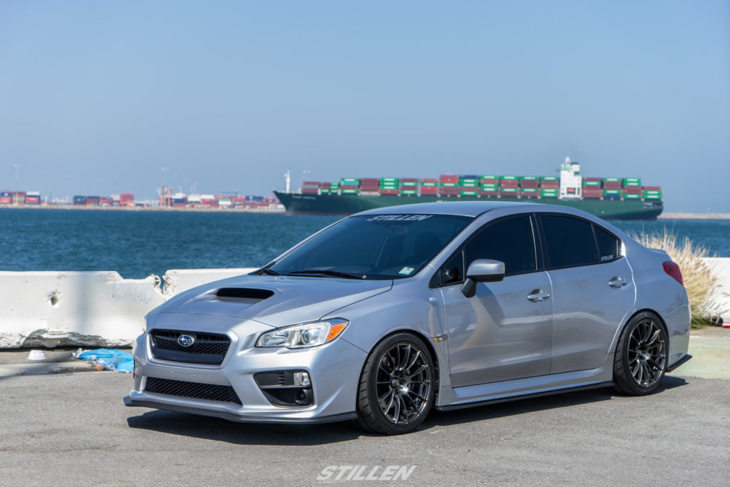 STILLEN Front Splitter for WRX / RS-R Coilovers (1.4in Drop) / Wedsport SA72R 18x9.5 / 18x9.5 265/35-18 Nitto NT05 Tires
