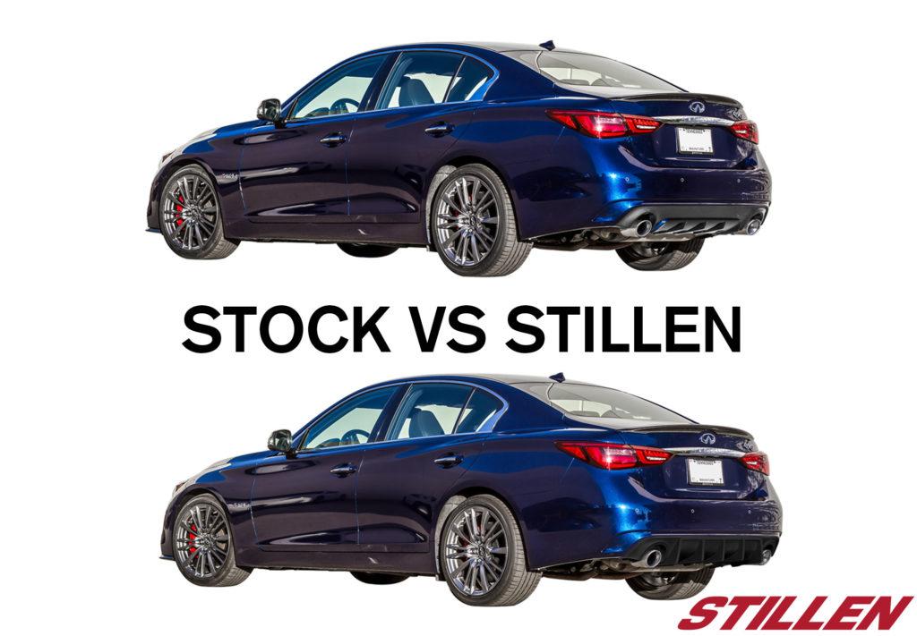04_2018_Infitniti_Q50_3_4_STILLEN_Diffuser_vs_STOCK