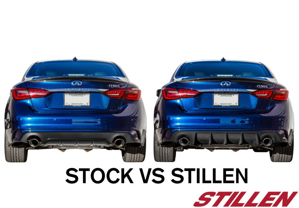 04_2018_Infitniti_Q50_Rear_STILLEN_Diffuser_vs_STOCK