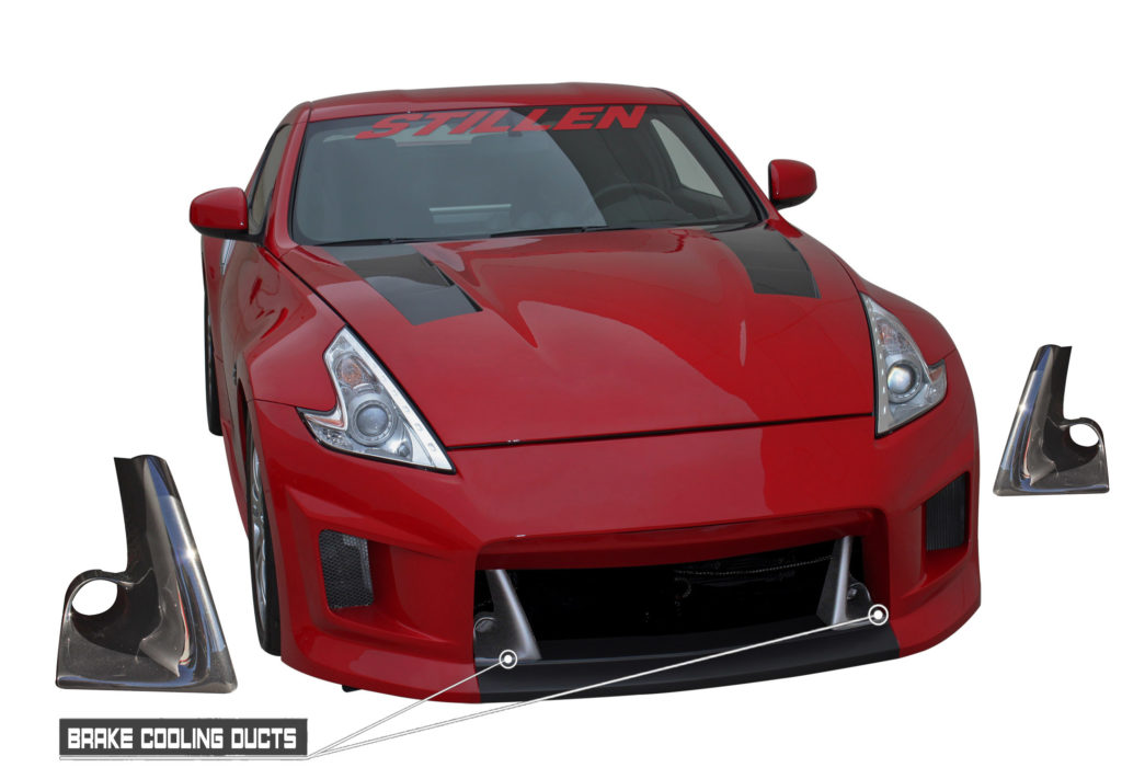 STILLEN 370Z DUCTS INFOGRAPHIC BRAKEDUCTSONLY SHADOW FANGS
