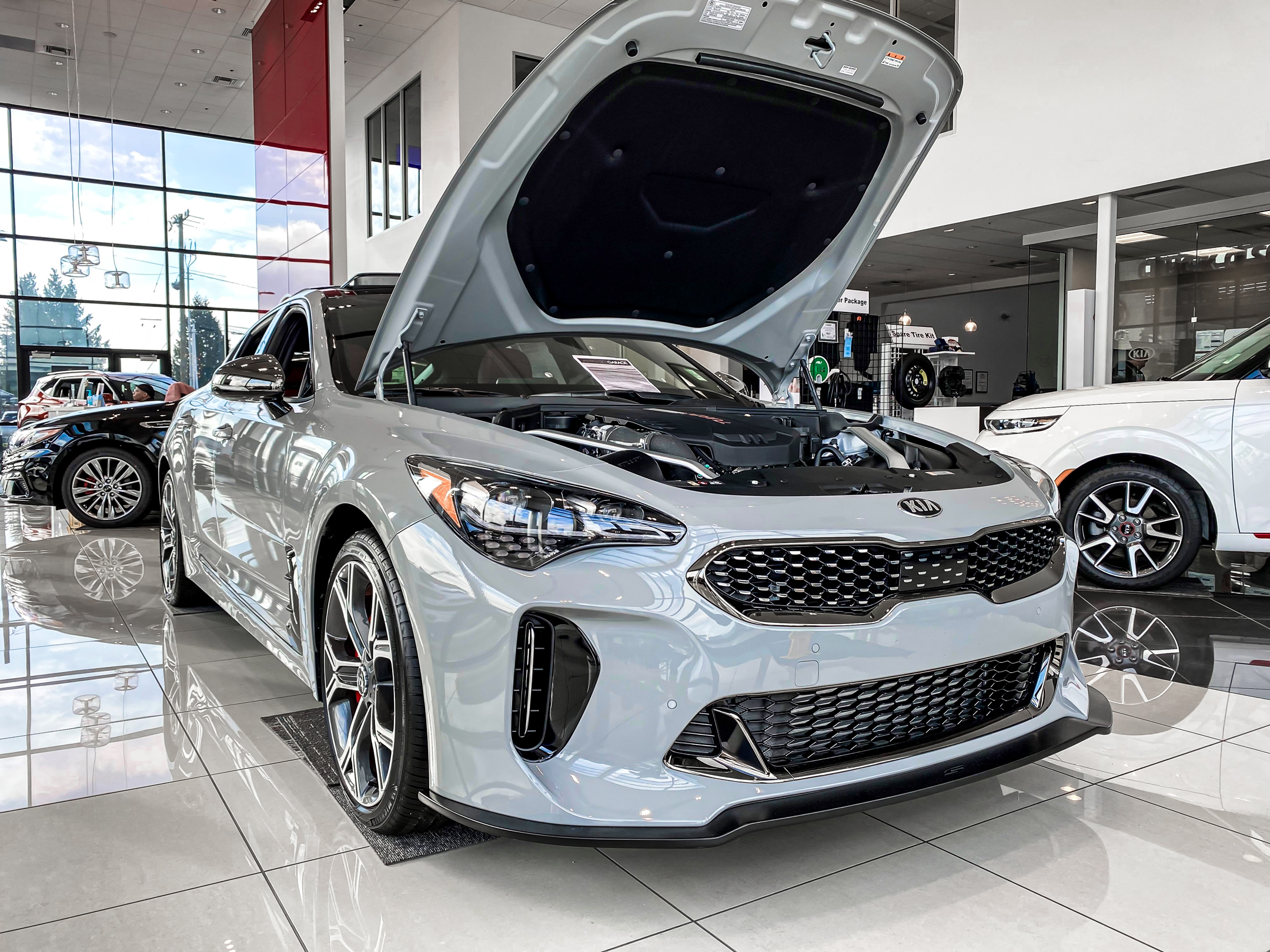 Kia Stinger GT STILLEN Front Splitter and Intake