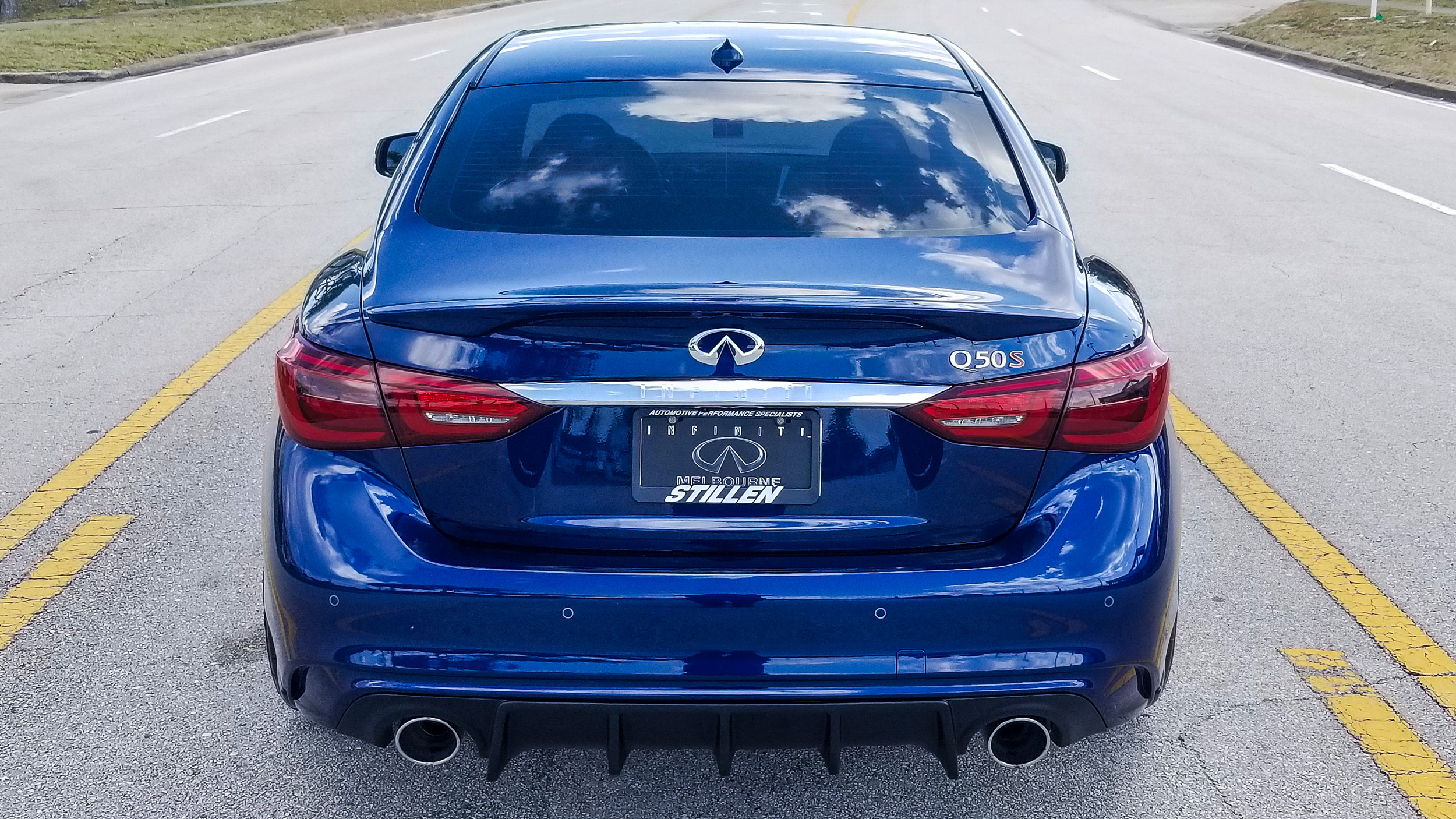 Infiniti of Melbourne - 2020 Infiniti Q50 RS400 STILLEN Front Splitter and Rear Diffuser